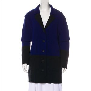 Oscar de la Renta virgin wool-blend coat NWT